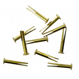 Brass Bifurcated Rivet  (10 Pack)