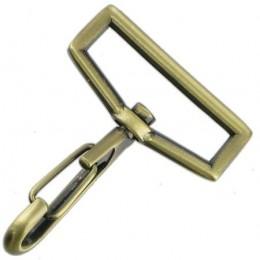 Antique Brass Snap Hook 39mm
