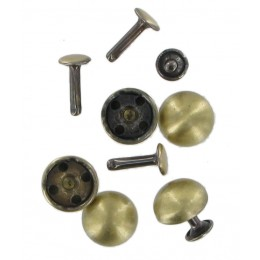 Antique Brass Domed Rivets  (5 Pack)
