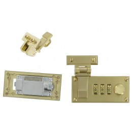 Brass Combi-Lock Set (Screwfit)