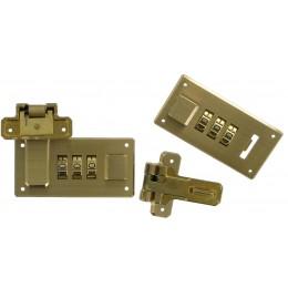 Italian Combi-Lock Set Brass Lge