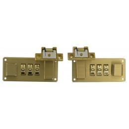 Italian Combi-Lock Set Brass Std