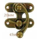 Antique Brass Hook Clasp